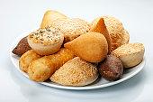 Mixed brazilian snack food