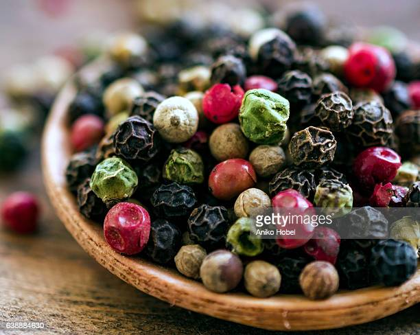 Mixed colorful peppercorns