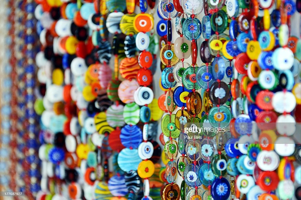 Mixed Colours Murano Glass : Stock Photo