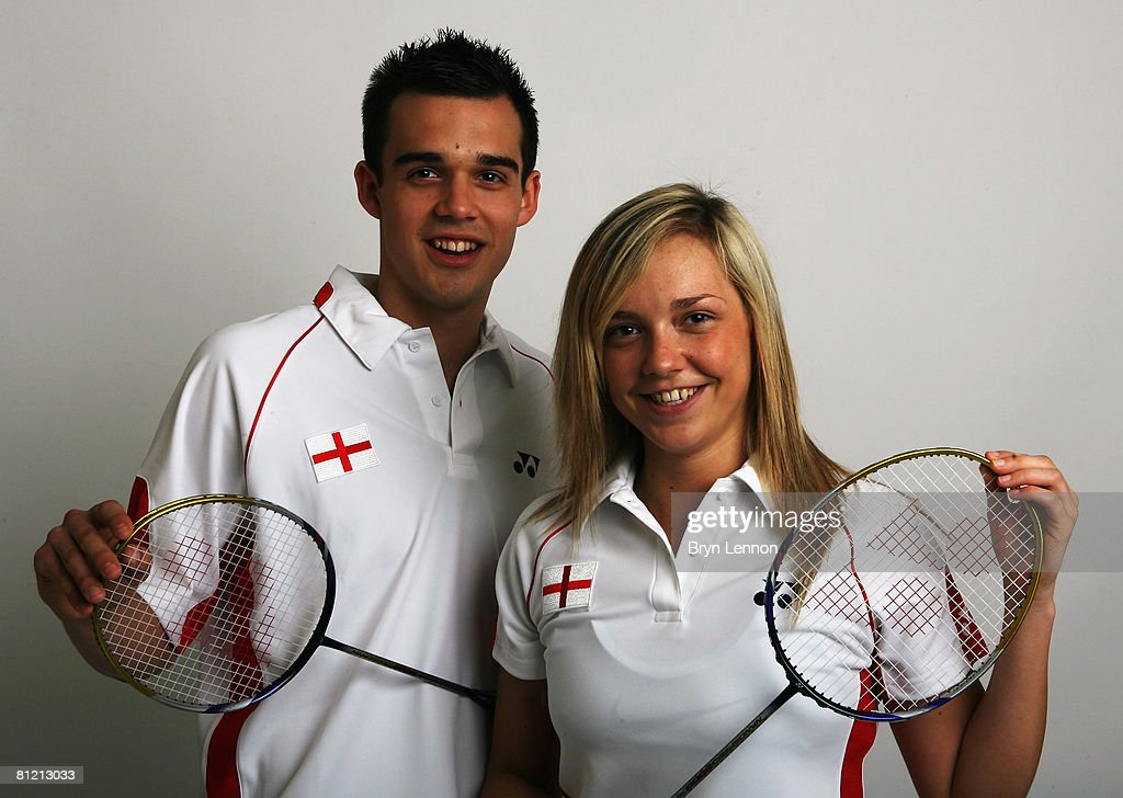 Mixed Doubles Chris Adcock and Gabrielle White poses for a photo prior to a training session at the National Badminton Centre on May 22, 2008 in Milton Keynes, England.