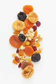 Assorted dried fruits and nuts