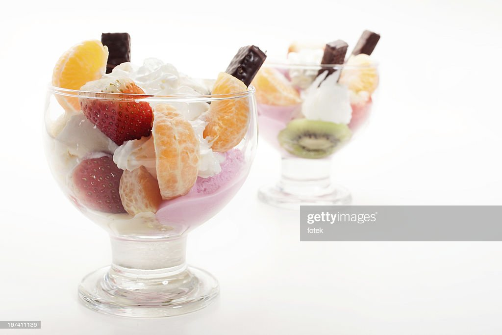 Mixed ice cream : Bildbanksbilder