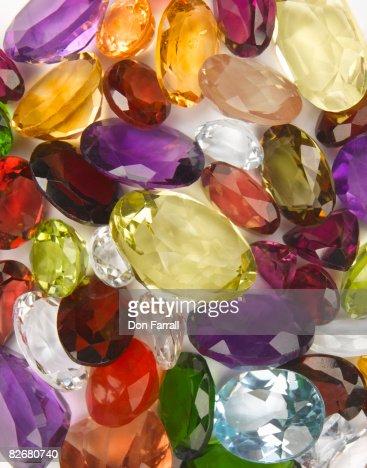 Mixed jewels : Stock Photo