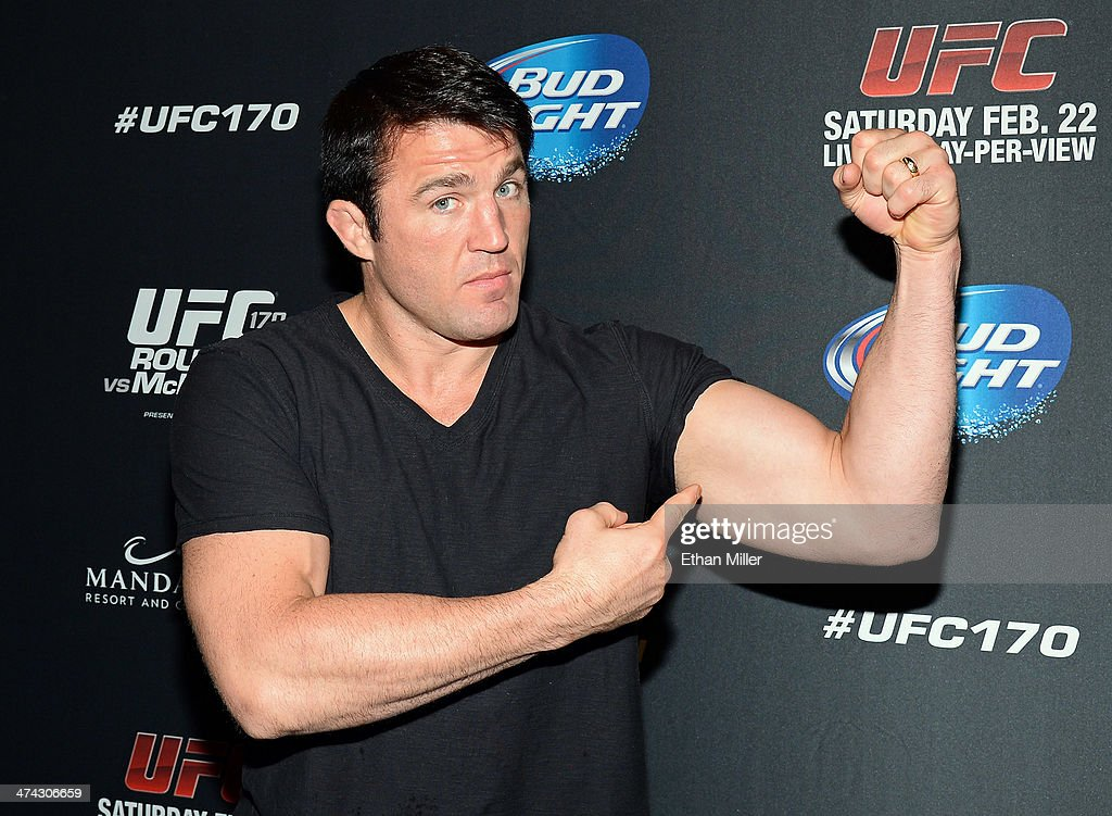 Mixed martial artist <a gi-track='captionPersonalityLinkClicked' href=/galleries/search?phrase=Chael+Sonnen&family=editorial&specificpeople=5434559 ng-click='$event.stopPropagation()'>Chael Sonnen</a> attends the UFC 170 event at the Mandalay Bay Events Center on February 22, 2014 in Las Vegas, Nevada.