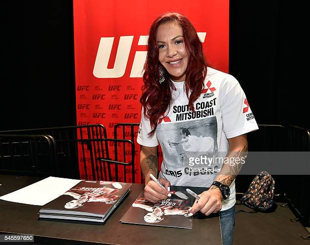 Mixed martial artist Cris Cyborg attends the UFC Fan Expo at the Las Vegas Convention Center on July 8 2016 in Las Vegas Nevada