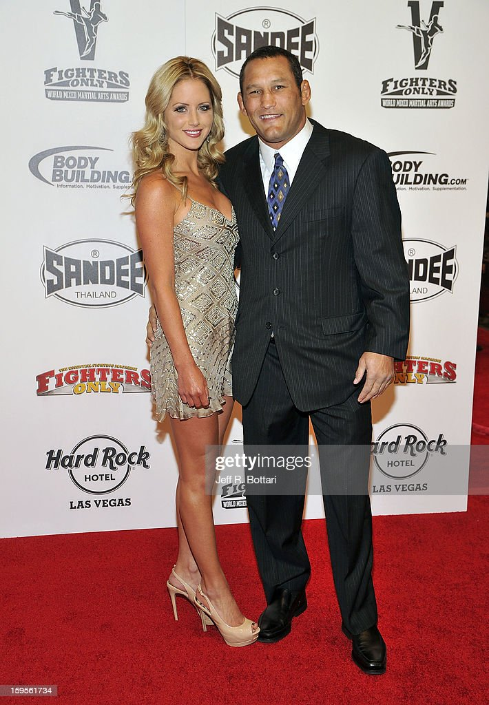 Mixed martial artist Dan Henderson (R) and Rachel Malter arrive at the Fighters Only World Mixed Martial Arts Awards at the Hard Rock Hotel & Casino on January 11, 2013 in Las Vegas, Nevada.