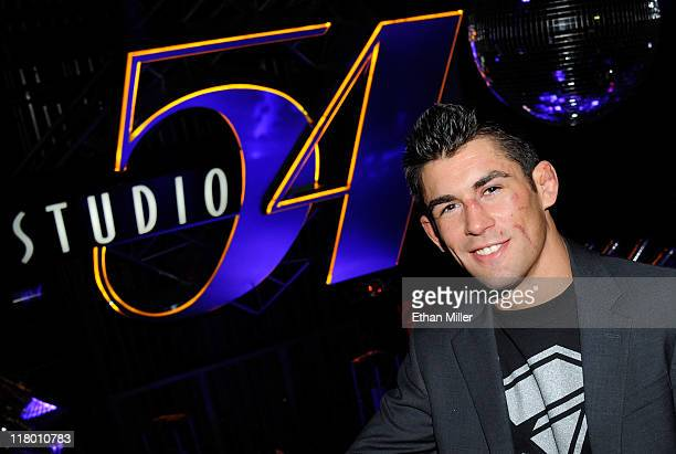 Mixed martial artist Dominick Cruz attends a postfight party for UFC 132 at Studio 54 inside the MGM Grand Hotel/Casino early July 3 2011 in Las...