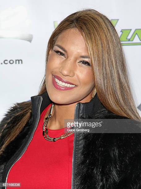 Mixed martial artist Julianna Pena attends the All in for CP celebrity charity poker event at the Rio Hotel Casino benefiting the One Step Closer...