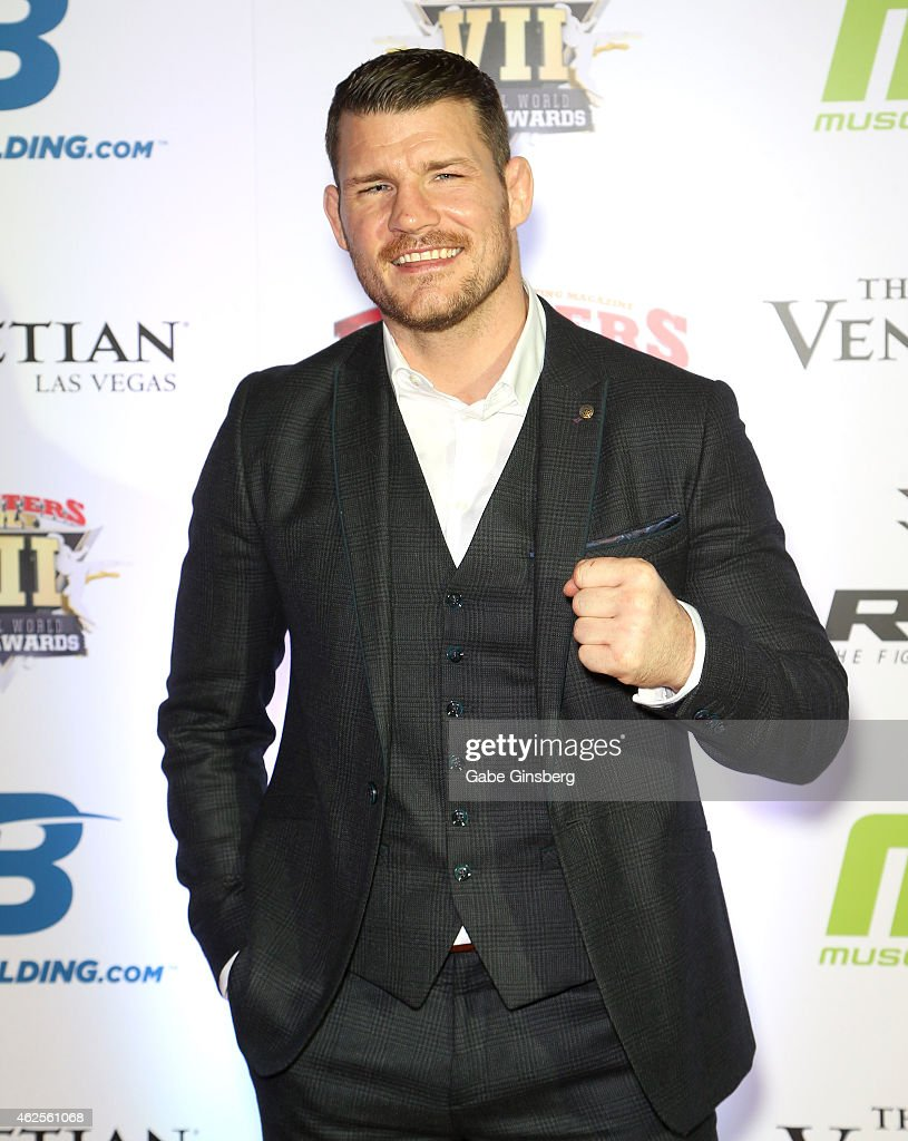 Mixed martial artist <a gi-track='captionPersonalityLinkClicked' href=/galleries/search?phrase=Michael+Bisping&family=editorial&specificpeople=4165714 ng-click='$event.stopPropagation()'>Michael Bisping</a> arrives at the seventh annual Fighters Only World Mixed Martial Arts Awards at The Palazzo Las Vegas on January 30, 2015 in Las Vegas, Nevada.