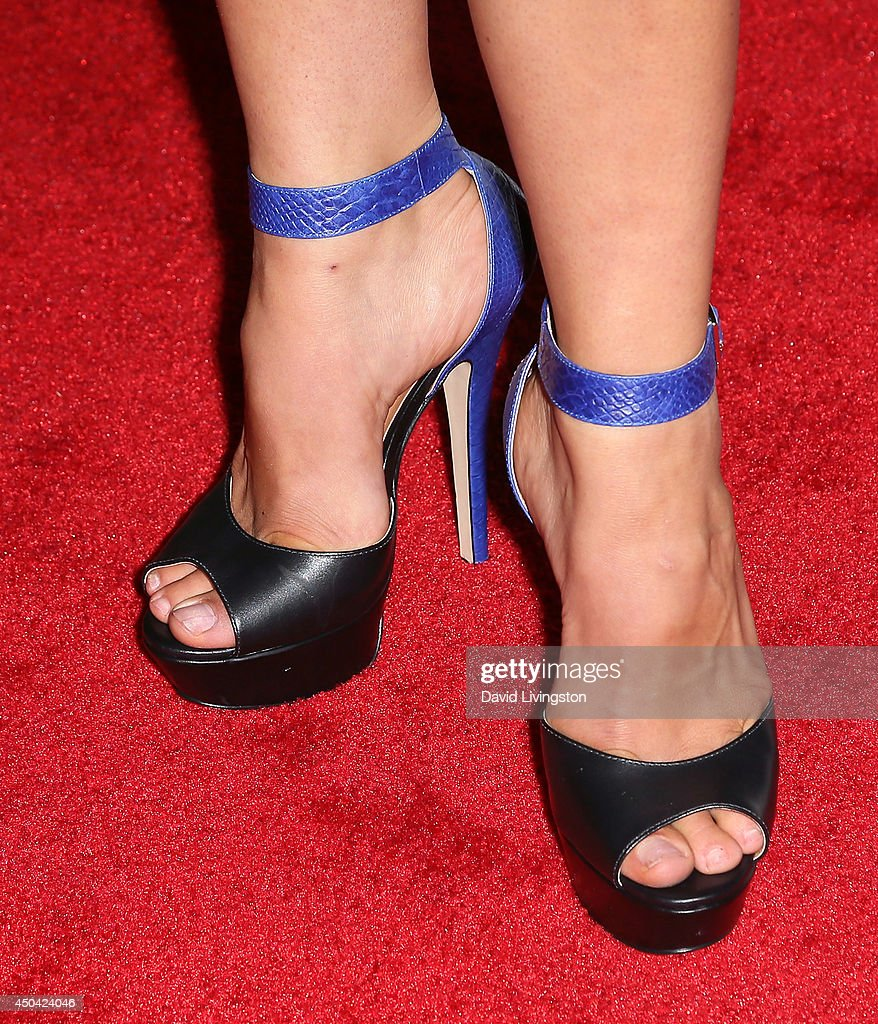 Mixed martial artist Miesha Tate (shoe detail) attends the Maxim Hot 100 event at the Pacific Design Center on June 10, 2014 in West Hollywood, California.