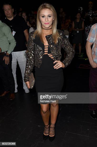 Mixed Martial Artist Paige VanZant attends the Jeremy Scott fashion show during New York Fashion Week The Shows at The Arc Skylight at Moynihan...