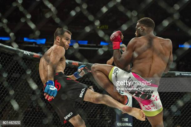 Bellator NYC Brad Desir in action vs Nate Grebb during lighweight preliminary bout at Madison Square Garden New York NY CREDIT Chad Matthew Carlson