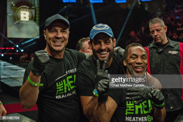 Bellator NYC Heather Hardy's team victorious vs Alice Yauger during Women's Flyweight preliminary bout at Madison Square Garden New York NY CREDIT...