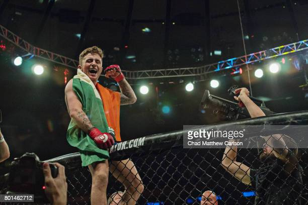 Bellator NYC James Gallagher during featherweight bout vs Chinzo Machida at Madison Square Garden New York NY CREDIT Chad Matthew Carlson