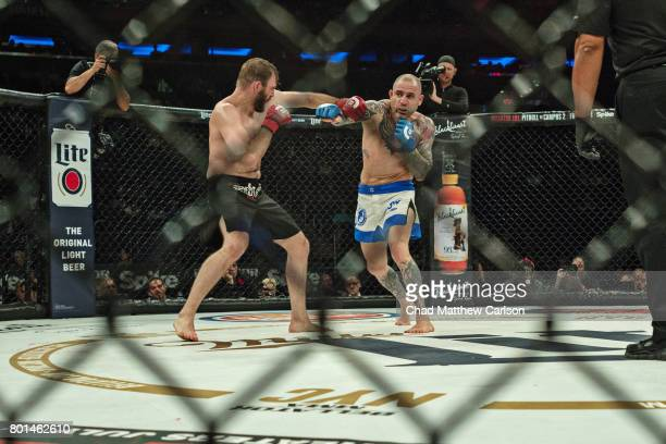 Bellator NYC Overall view of Ryan Couture in action vs Haim Gozali during Welterweight preliminary bout at Madison Square Garden New York NY CREDIT...