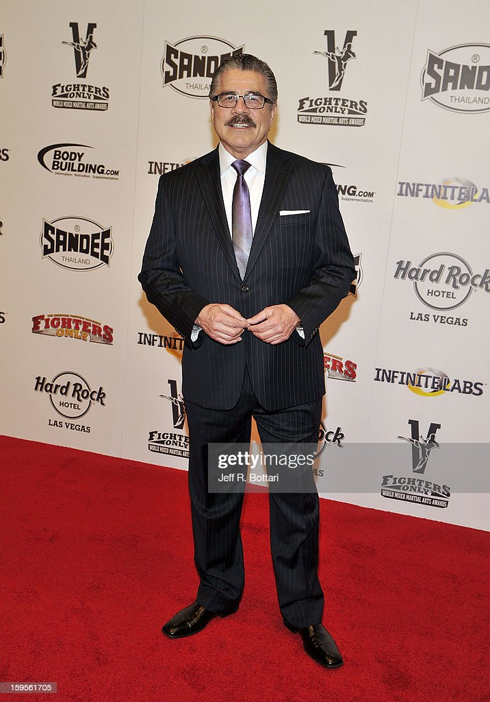 Mixed martial arts cutman Stitch Duran arrives at the Fighters Only World Mixed Martial Arts Awards at the Hard Rock Hotel & Casino on January 11, 2013 in Las Vegas, Nevada.