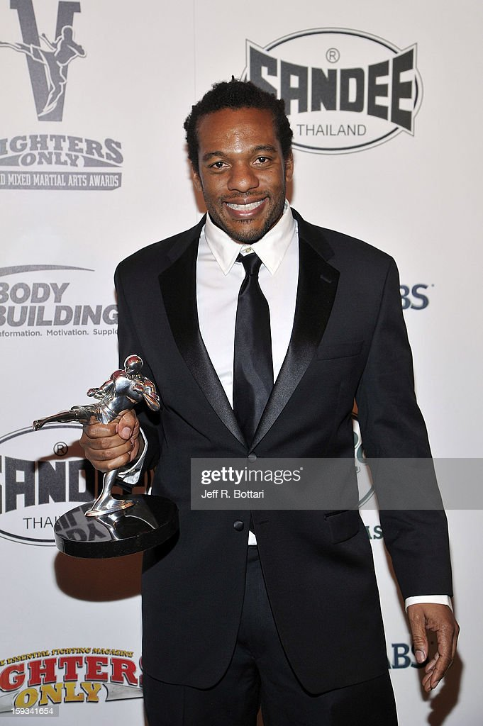 Mixed martial arts fighter and referee Herb Dean holds the Referee of the Year award at the Fighters Only World Mixed Martial Arts Awards at the Hard Rock Hotel & Casino on January 11, 2013 in Las Vegas, Nevada.