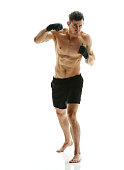 Mixed martial arts fighter fighting