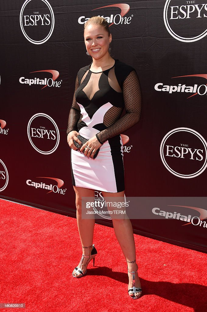 Mixed Martial Arts fighter Ronda Rousey attends The 2015 ESPYS at Microsoft Theater on July 15 2015 in Los Angeles California