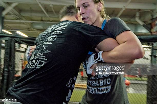 UFC 205 Preview Katlyn Chookagian training with Kyle Cerminara at Long Island MMA and Fitness Center Farmingdale NY CREDIT Chad Matthew Carlson