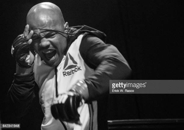 UFC 208 Closeup of Wilson Reis before Flyweight fight vs Ulka Sasaki at Barclays Center Behind the Scenes Brooklyn NY CREDIT Erick W Rasco