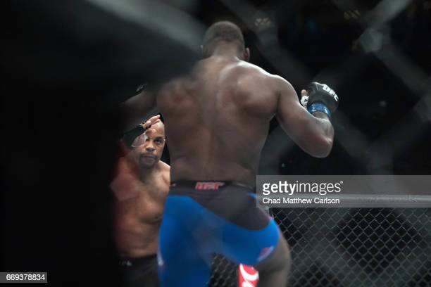 UFC 210 Daniel Cormier in action Anthony Johnson during Men's Light Heavyweight championship at KeyBank Center Cormier wins by submission at 337...