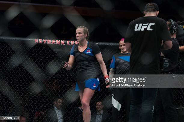 UFC 210 Katlyn Chookagian after defeating Irene Aldana by split decision at KeyBank Center Buffalo NY CREDIT Chad Matthew Carlson