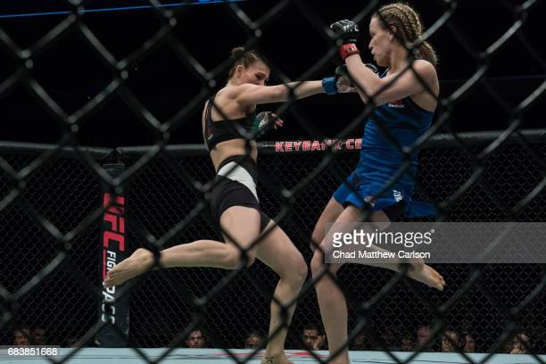 UFC 210 Katlyn Chookagian in action vs Irene Aldana at KeyBank Center Chookagian defeated Aldana by split decision Buffalo NY CREDIT Chad Matthew...