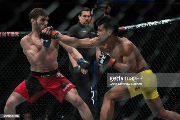 UFC 210 Magomed Bibulatov in action vs Jenel Lausa during Flyweight class fight at KeyBank Center Bibulatov defeated Lausa by unanimous decision...