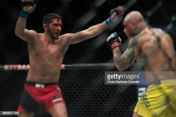 UFC 210 Patrick Cote in action vs Thiago Alves during Welterweight class fight at KeyBank Center Alves won by unanimous decision Buffalo NY CREDIT...