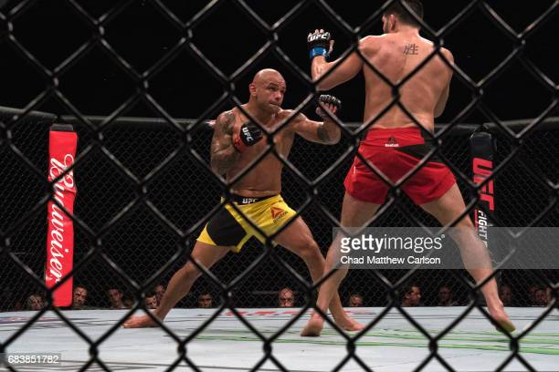UFC 210 Thiago Alves in action vs Patrick Cote during Welterweight class fight at KeyBank Center Alves won by unanimous decision Buffalo NY CREDIT...