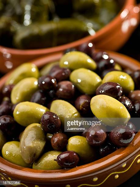 Mixed olives and greek dolmades