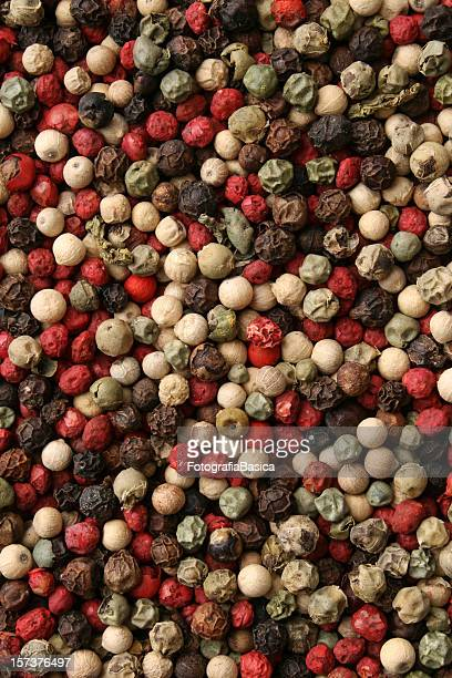 Mixed peppercorns background