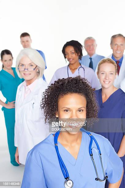 Mixed race and age healthcare team