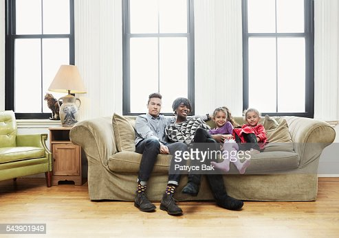 Mixed race family w/ transgender dad and daughters