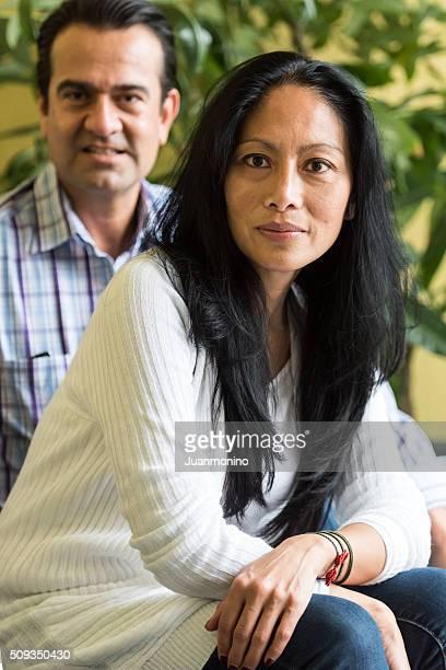Mixed race mature couple