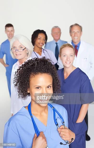 Mixed race medical group