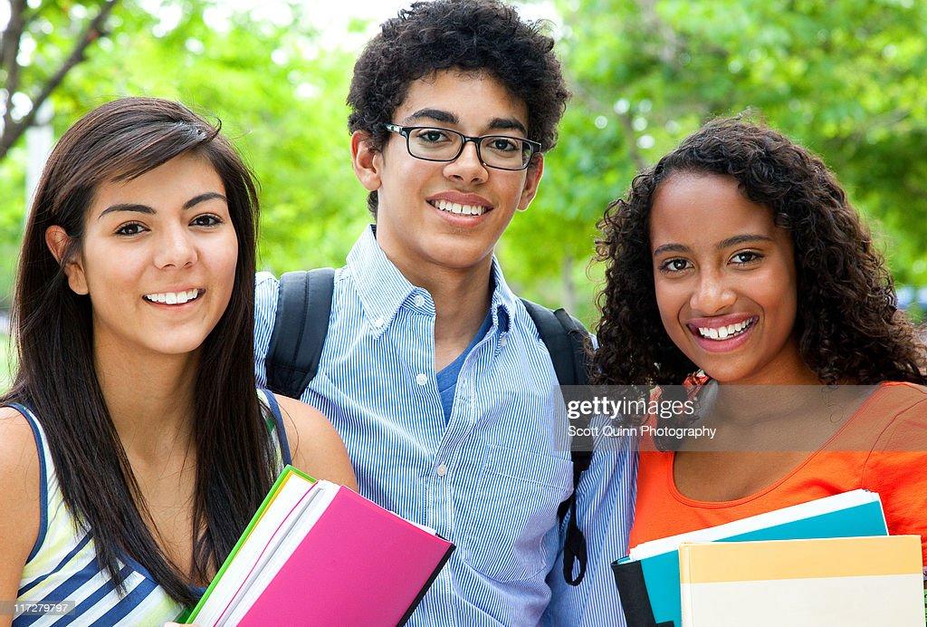 Mixed Race Students : Stock Photo