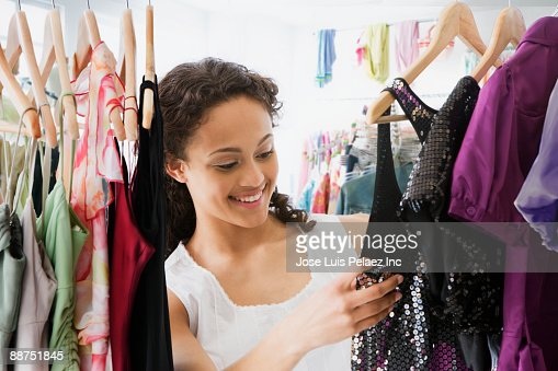 Keywords. Teenage Girl Trying On Shoes In Shop Stock Photo   Getty Images