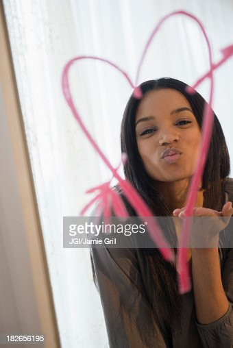 Beautiful women kissing women stock photos and pictures for Mirror kisses
