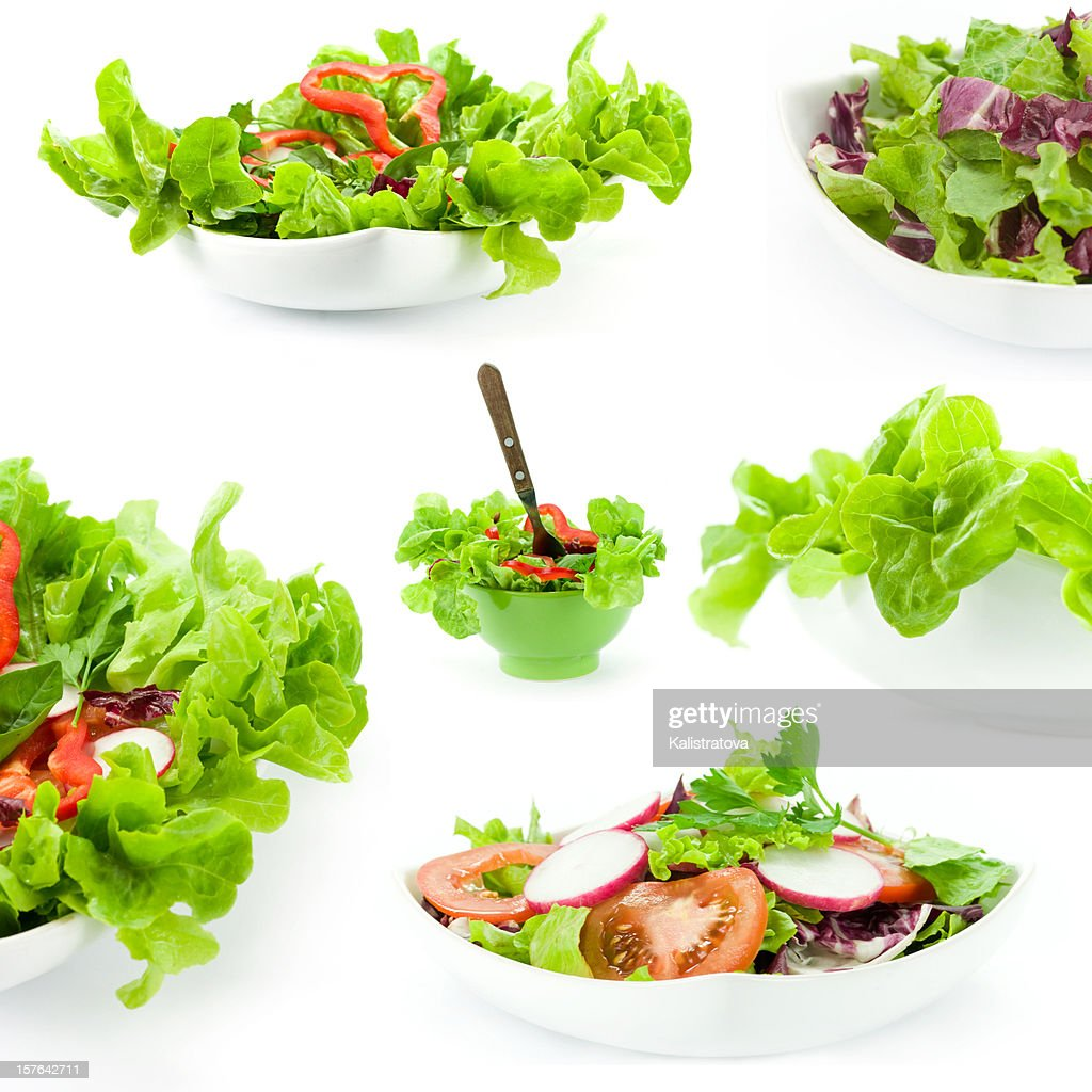 Mixed salad collage : Stock Photo