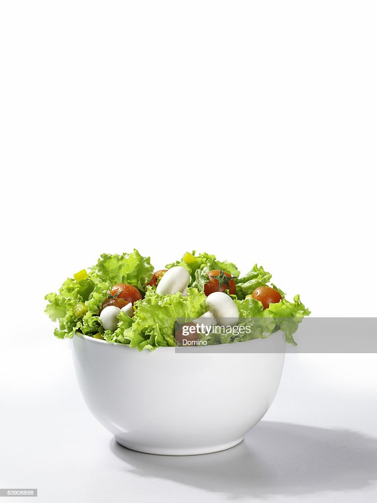 Mixed Salad in a bowl, white background : Stock Photo