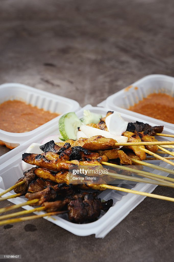 Mixed satay : Stock Photo