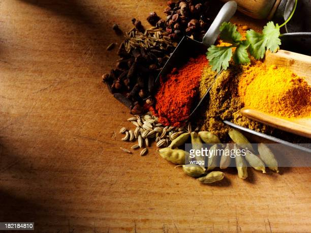 Mixed Spices with Copy Space