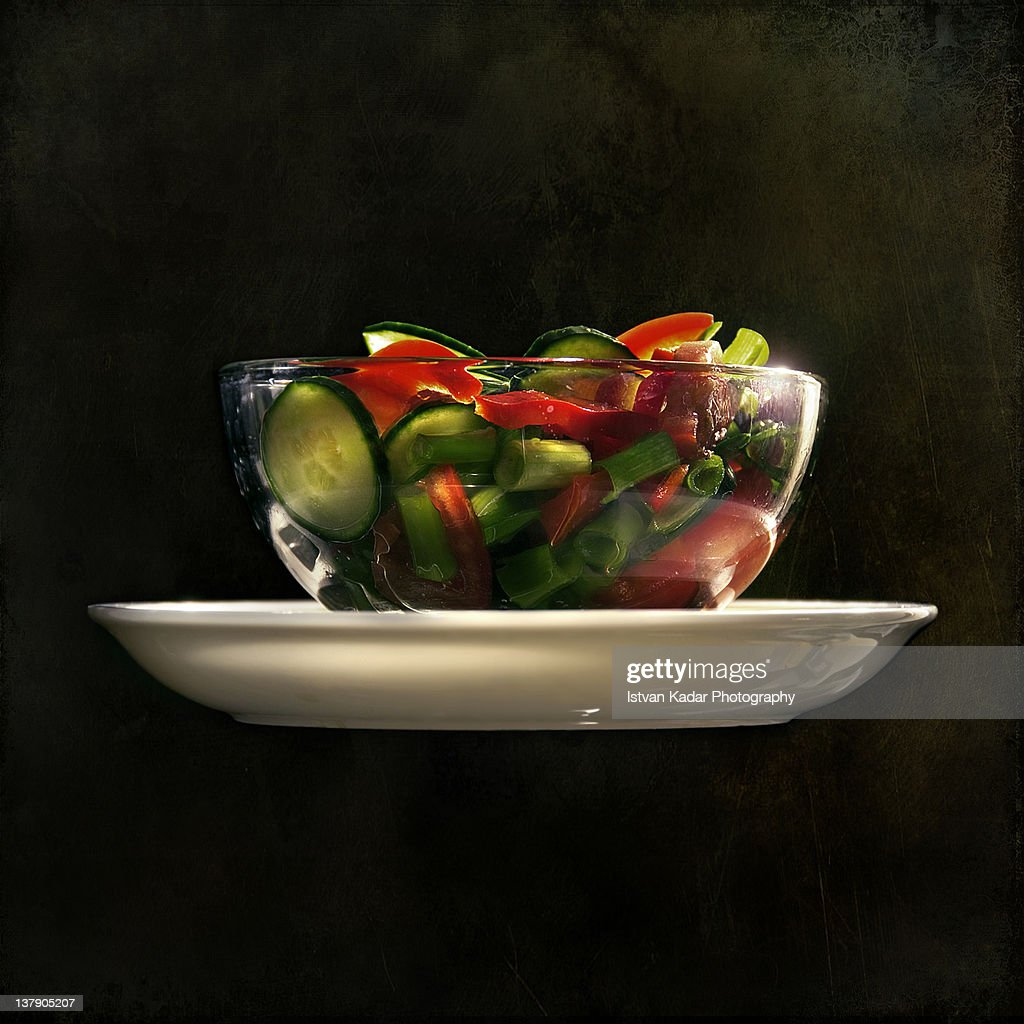 Mixed vegetable salad : Stock Photo