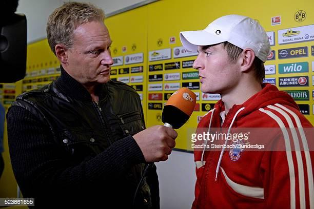 MixedZone Interview ZDF mit Toni Kroos waehrend des Bundesligaspiels zwischen Borussia Dortmund und Bayern Muenchen im Signal Iduna Park am 23...