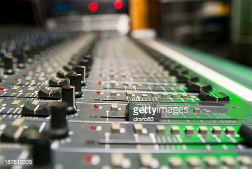 Mixer In A Recording Studio