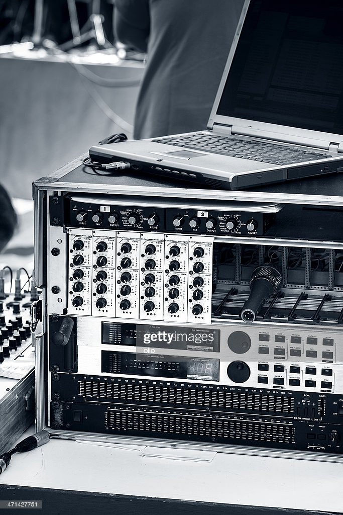 Mixing desk and equalizer, selective focus