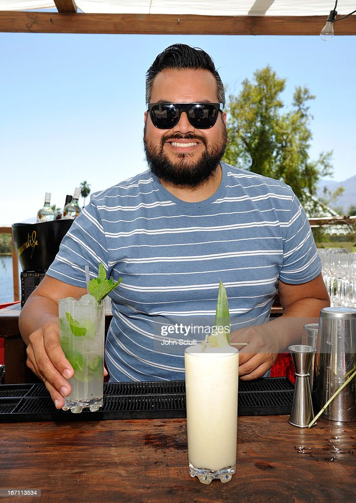 Mixologist Chris Ojeda at the Soho House Pop Up with Bacardi during Coachella 2013 at Merv Griffin Estate on April 20, 2013 in La Quinta, California.