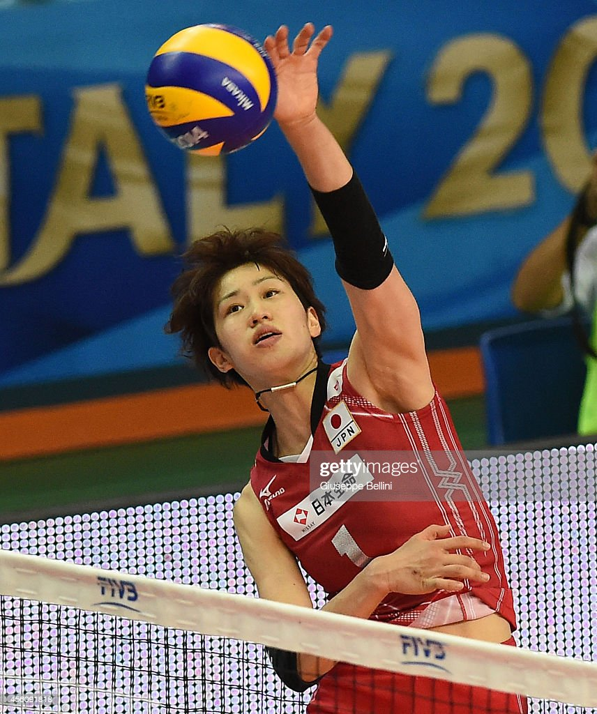 <a gi-track='captionPersonalityLinkClicked' href=/galleries/search?phrase=Miyu+Nagaoka&family=editorial&specificpeople=11310850 ng-click='$event.stopPropagation()'>Miyu Nagaoka</a> in action during the FIVB Women's World Championship pool D match between Cuba and Japan on September 25, 2014 in Bari,Italy.